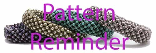 Starman TrendSetters Chenille Stitch Bangle Pattern Reminder