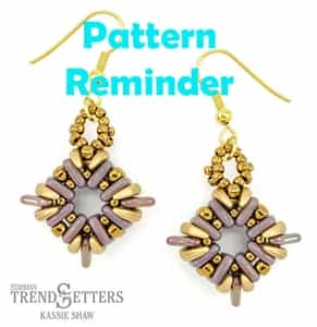 Starman Cornerstones Earrings Pattern Reminder
