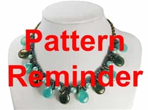 Starman Dewdrops Necklace Pattern Reminder