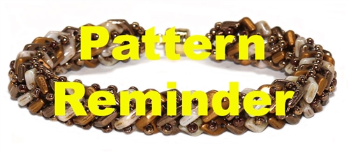 Starman Diamond Tweed Bracelet Pattern Reminder