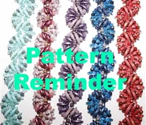 Starman English Crescents Bracelet Pattern Reminder