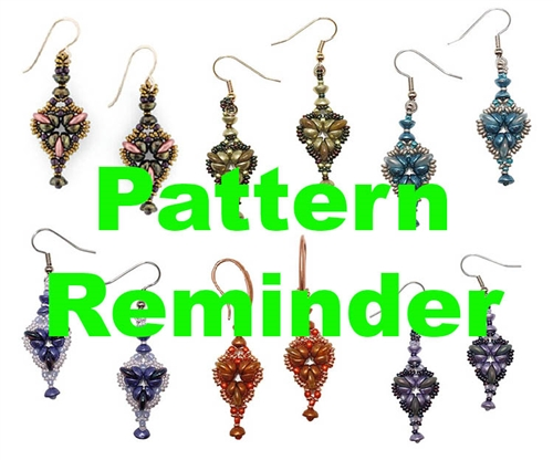 Starman Fleur-de-lis Earrings Pattern Reminder