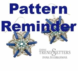 Starman Falling Star Earrings Pattern Reminder
