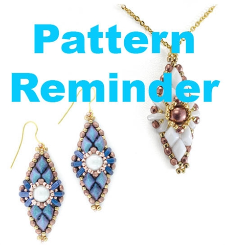 Starman Lil Earrings Pattern Reminder