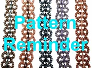 Starman Lacy Links Bracelet Pattern Reminder