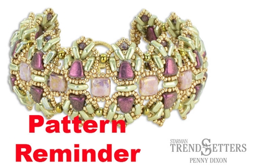 Starman Lavender Crown Bracelet Pattern Reminder