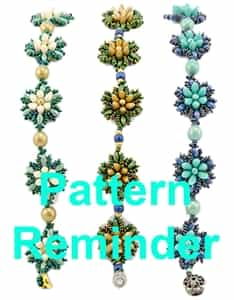 Starman Lilies on the Water Bracelet Pattern Reminder