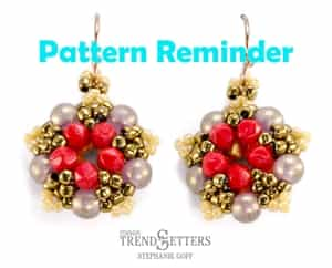 Starman Little Five Points Earrings Pattern Reminder