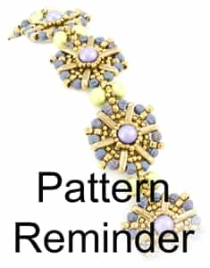Starman Morning Glory Bracelet Pattern Reminder