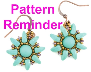 Starman Sunflower Earrings Pattern Reminder