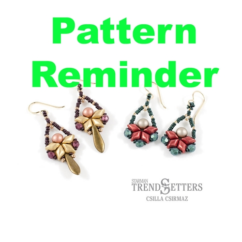 Starman Swing Time Earrings Pattern Reminder