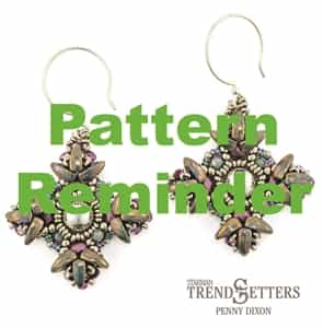 Starman TrendSetters Wayfarer Earrings Pattern Reminder