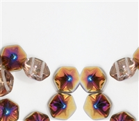 12mm Pyramid Hex Two Hole Beads - PYH12-00030-29500 - Crystal Sliperit - 1 Bead