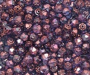 Renaissance Firepolish 6mm : FP6-15726 - Luster - Transparent Amethyst - 25 pieces