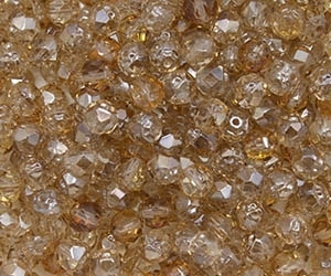 Renaissance Firepolish 6mm : FP6-Z0003 - Crystal - Celsian - 25 pieces