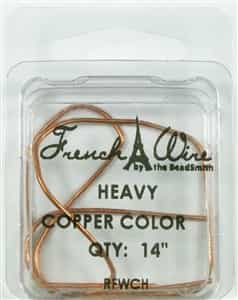 "'French' Wire Copper Color 14"" Heavy"