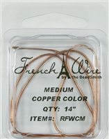 "'French' Wire Copper Color 14"" Medium"