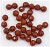 RJF8MM - 8MM Red Jasper Faceted Round Beads - 10 Count