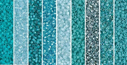 Aegean Monday - Exclusive Mix of Miyuki Delica Seed Beads
