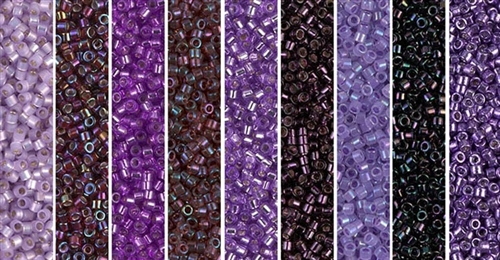Amethyst Luster Monday - Exclusive Mix of Miyuki Delica Seed Beads