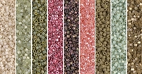 Antique Rose Monday - Exclusive Mix of Miyuki Delica Seed Beads