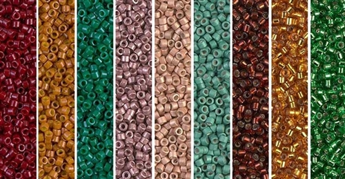 Autumn Monday - Exclusive Mix of Miyuki Delica Seed Beads