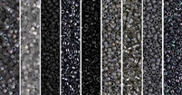 Black Monday - Exclusive Mix of Miyuki Delica Seed Beads