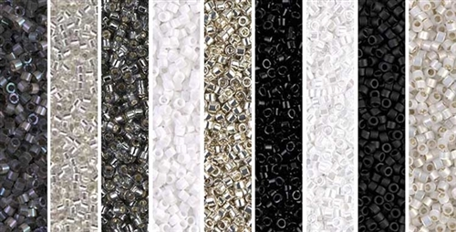 Black_&_White Monday - Exclusive Mix of Miyuki Delica Seed Beads