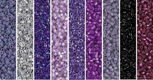 Blackberry Monday - Exclusive Mix of Miyuki Delica Seed Beads