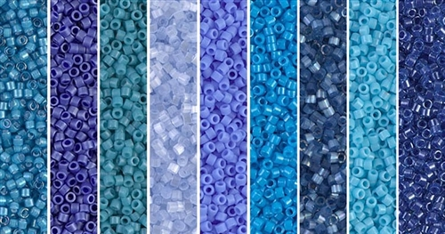 Blue Monday - Exclusive Mix of Miyuki Delica Seed Beads