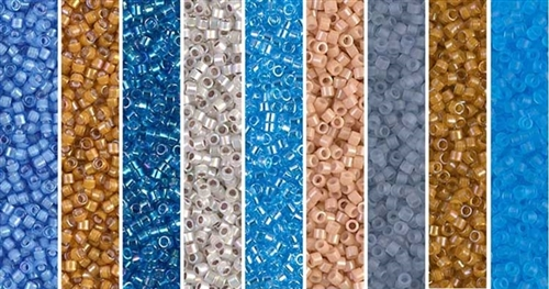 Blue Bird Monday - Exclusive Mix of Miyuki Delica Seed Beads