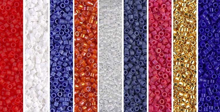 Blue Violet Monday - Exclusive Mix of Miyuki Delica Seed Beads