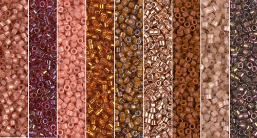 Cadmium Orange Monday - Exclusive Mix of Miyuki Delica Seed Beads
