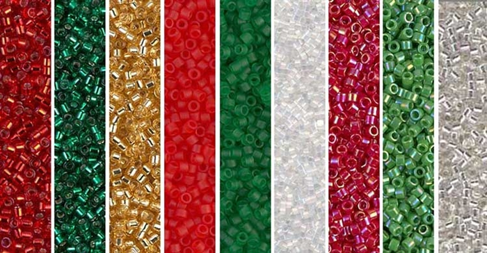 Christmas Monday - Exclusive Mix of Miyuki Delica Seed Beads