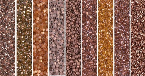 Copper Monday - Exclusive Mix of Miyuki Delica Seed Beads