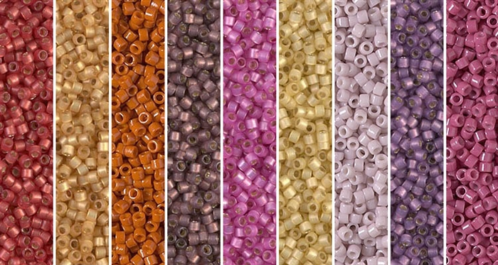 Crimson Butterscotch Monday - Exclusive Mix of Miyuki Delica Seed Beads