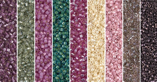 Dark Plum Monday - Exclusive Mix of Miyuki Delica Seed Beads