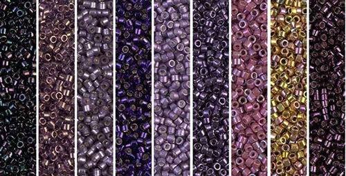 Deep Purple Monday - Exclusive Mix of Miyuki Delica Seed Beads
