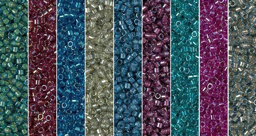 Dusty Cornflower Monday - Exclusive Mix of Miyuki Delica Seed Beads