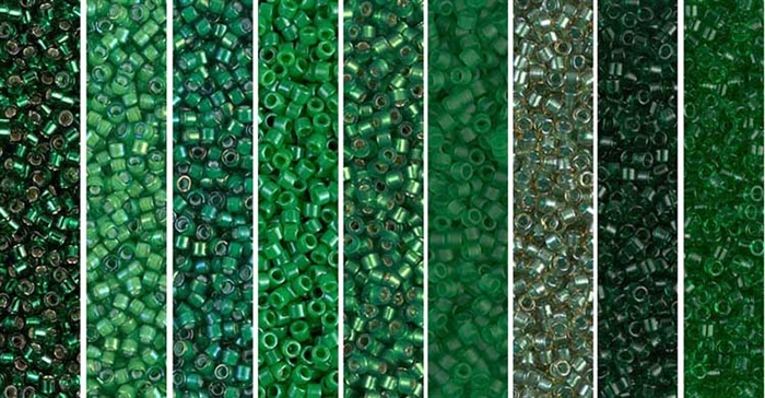 Emerald Monday - Exclusive Mix of Miyuki Delica Seed Beads