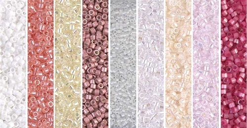 Frosted Dawn Monday - Exclusive Mix of Miyuki Delica Seed Beads