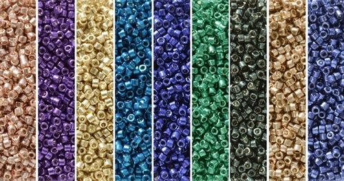 Galvanized Duracoat Monday - Exclusive Mix of Miyuki Delica Seed Beads