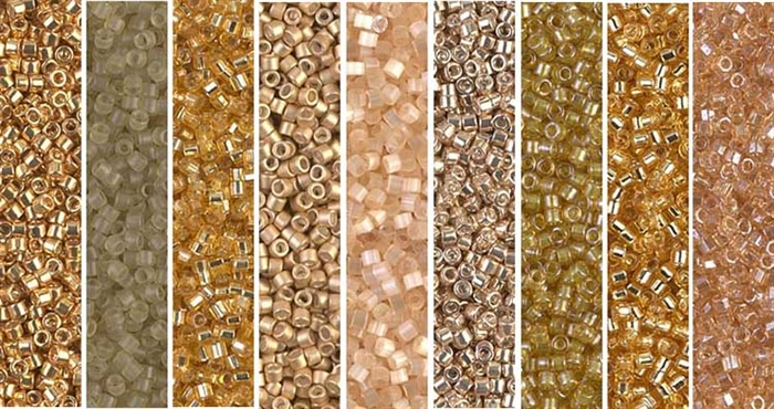 Golden Monday - Exclusive Mix of Miyuki Delica Seed Beads