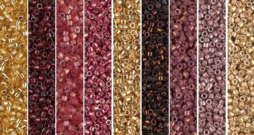 Golden Garnet Monday - Exclusive Mix of Miyuki Delica Seed Beads