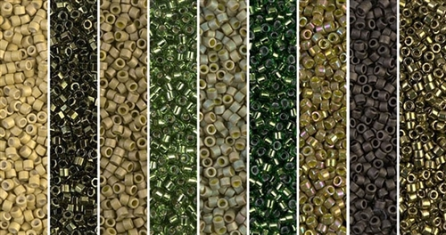 Golden Olive Monday - Exclusive Mix of Miyuki Delica Seed Beads