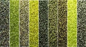 Greenery Monday - Exclusive Mix of Miyuki Delica Seed Beads