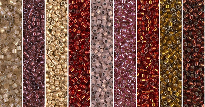 Grenadine Monday - Exclusive Mix of Miyuki Delica Seed Beads