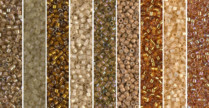 Honey Mustard Monday - Exclusive Mix of Miyuki Delica Seed Beads