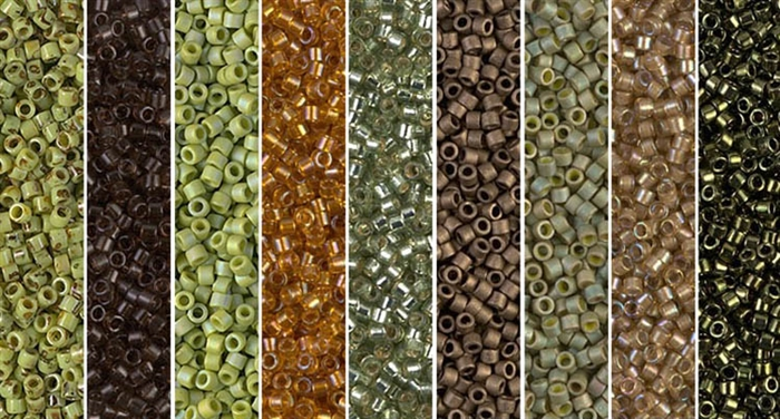 Key Lime Picasso Monday - Exclusive Mix of Miyuki Delica Seed Beads