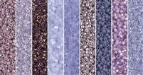 Lavender Monday - Exclusive Mix of Miyuki Delica Seed Beads